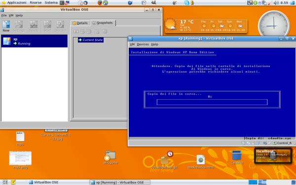 installazione Xp su VirtualBox