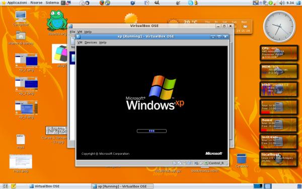 installazione xp con VirtualBox